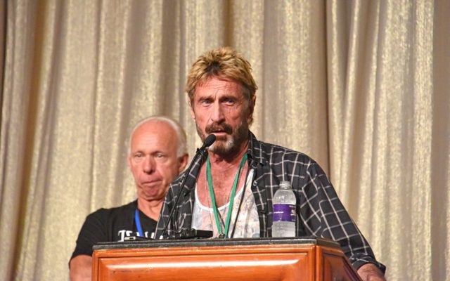 John McAfee $2 Million Bitcoin 2020