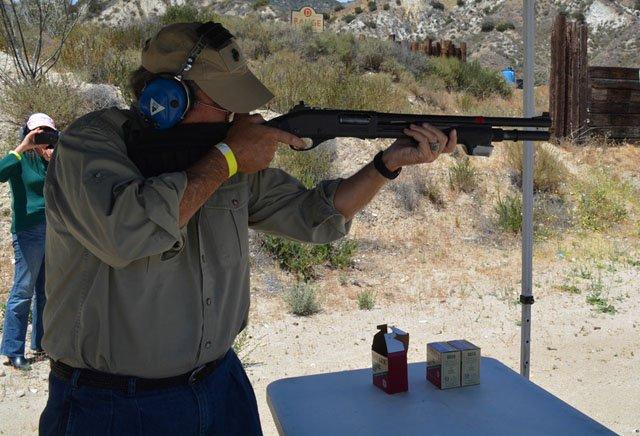 Shooter at gun range