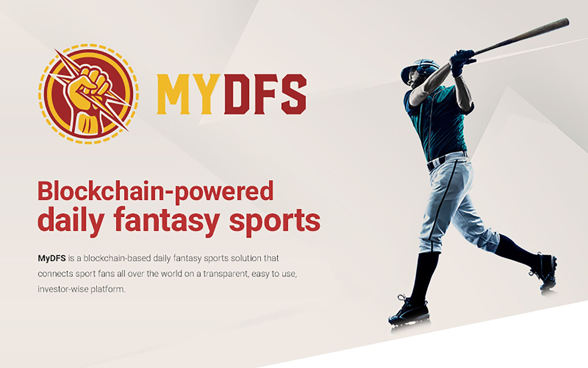 Creators of uTrener and KHL Fantasy Sport Apps Introduce Blockchain Powered Daily Fantasy Sports Platform MyDFS