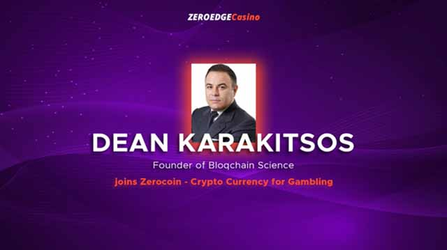 Dean Karakitsos has joined the ZeroEdge advisory team