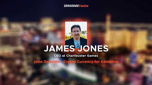 James Jones - CEO at Chartbuster Games joins Zerocoin