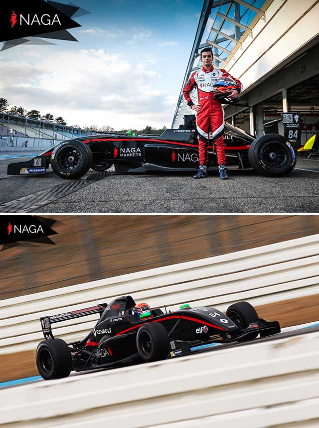 Partnership with the Formula Racing Team of Vladimiros Tziortzis