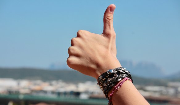 Thumbs-up for Bitcoin price bottoming out.