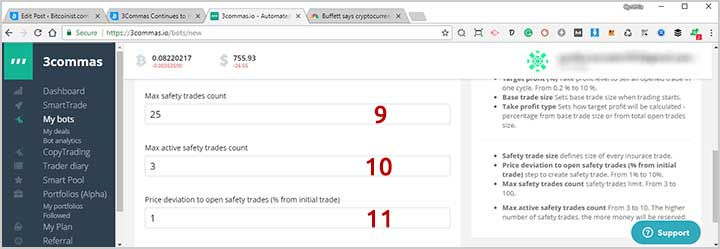 3Commas Automated Trading Bot Steps 9-11