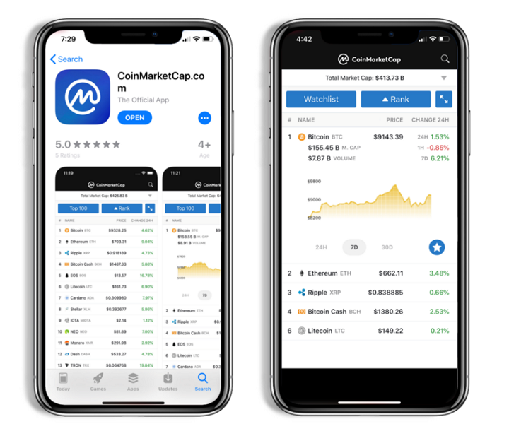 mobile app for cryptocurrency prices