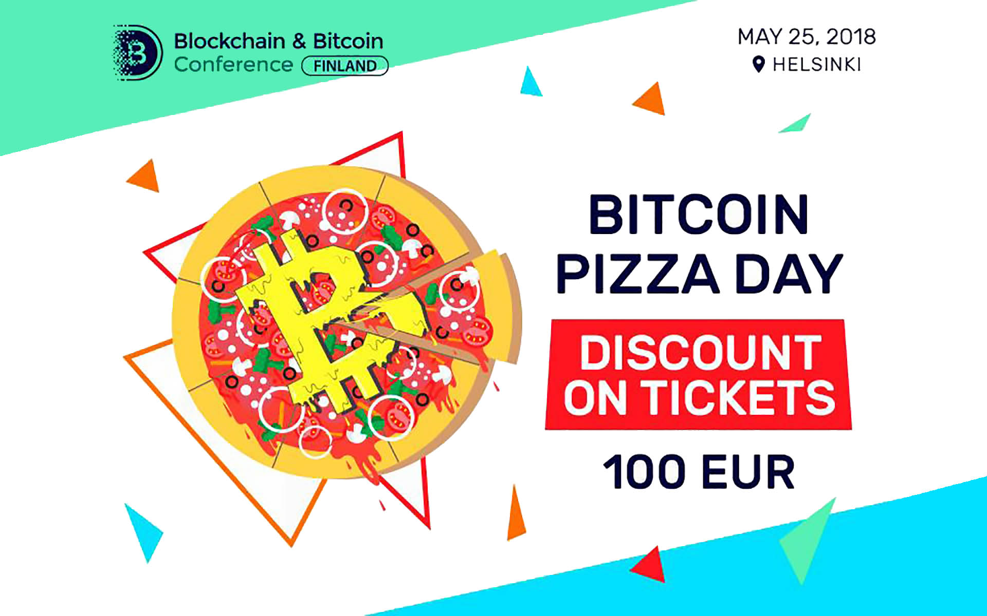 Pizza Day Celebration: A Ticket for Blockchain & Bitcoin Conference Finland for 100€!
