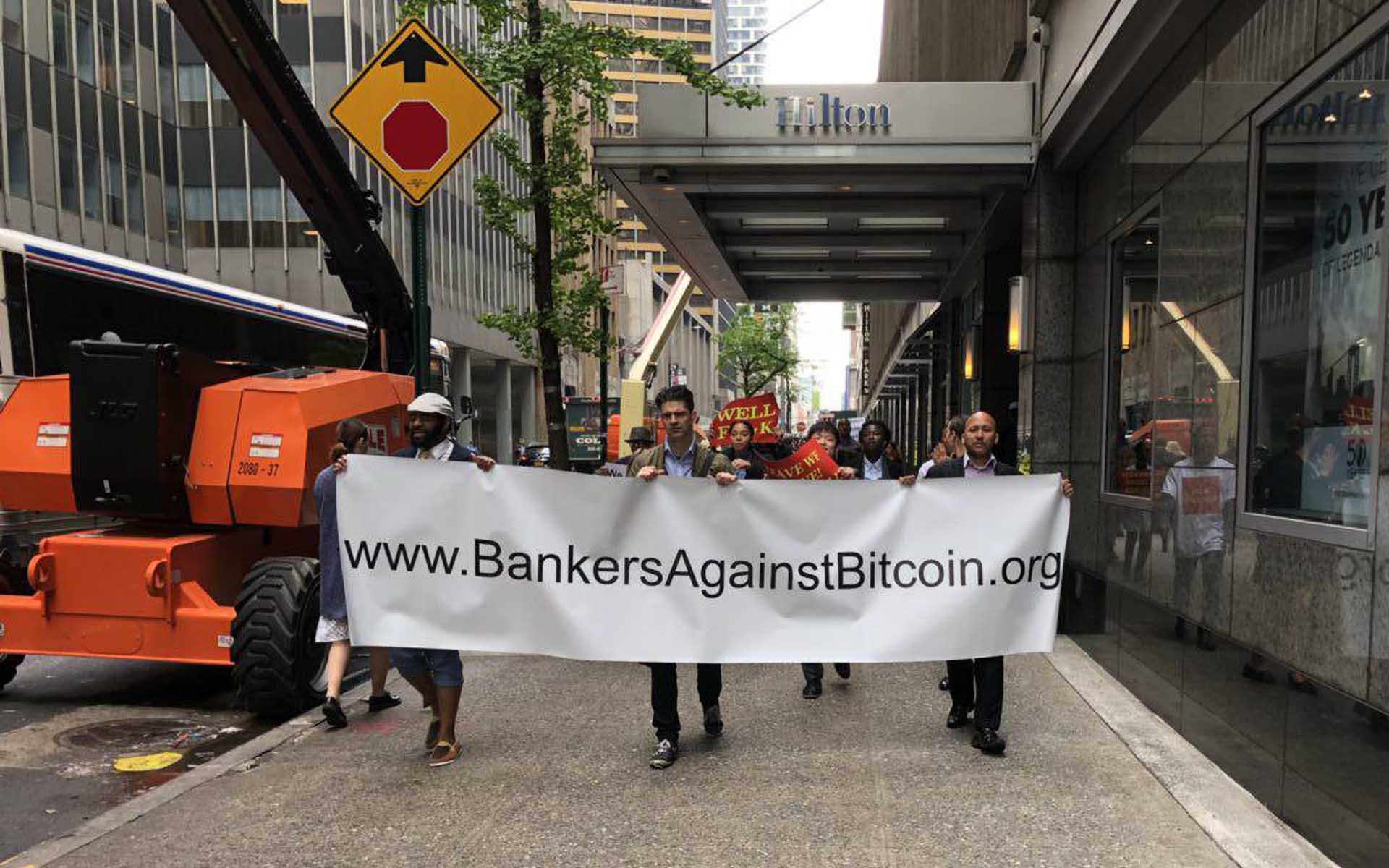 Consensus 2018: Mammoth Turnout on Opening Day as Parody Protesters March Outside the Cryptocurrency Conference
