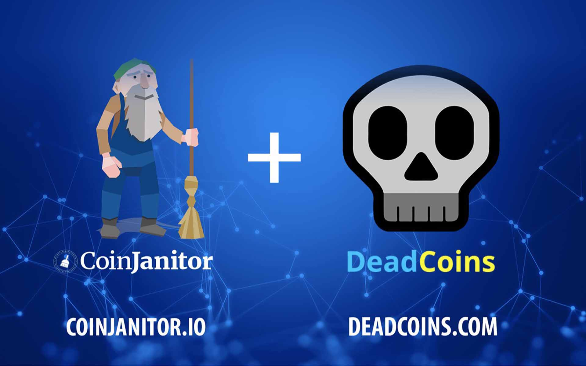CoinJanitor and Deadcoins.com Join Forces to Clean Up Crypto