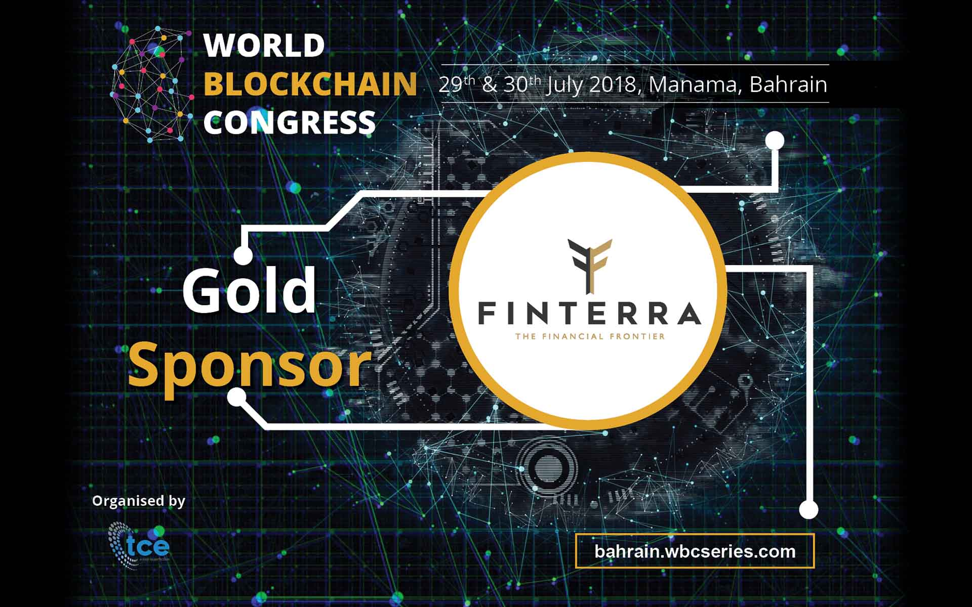 Finterra Pte Ltd Confirmed as the Official Gold Sponsor for World Blockchain Congress Bahrain 2018