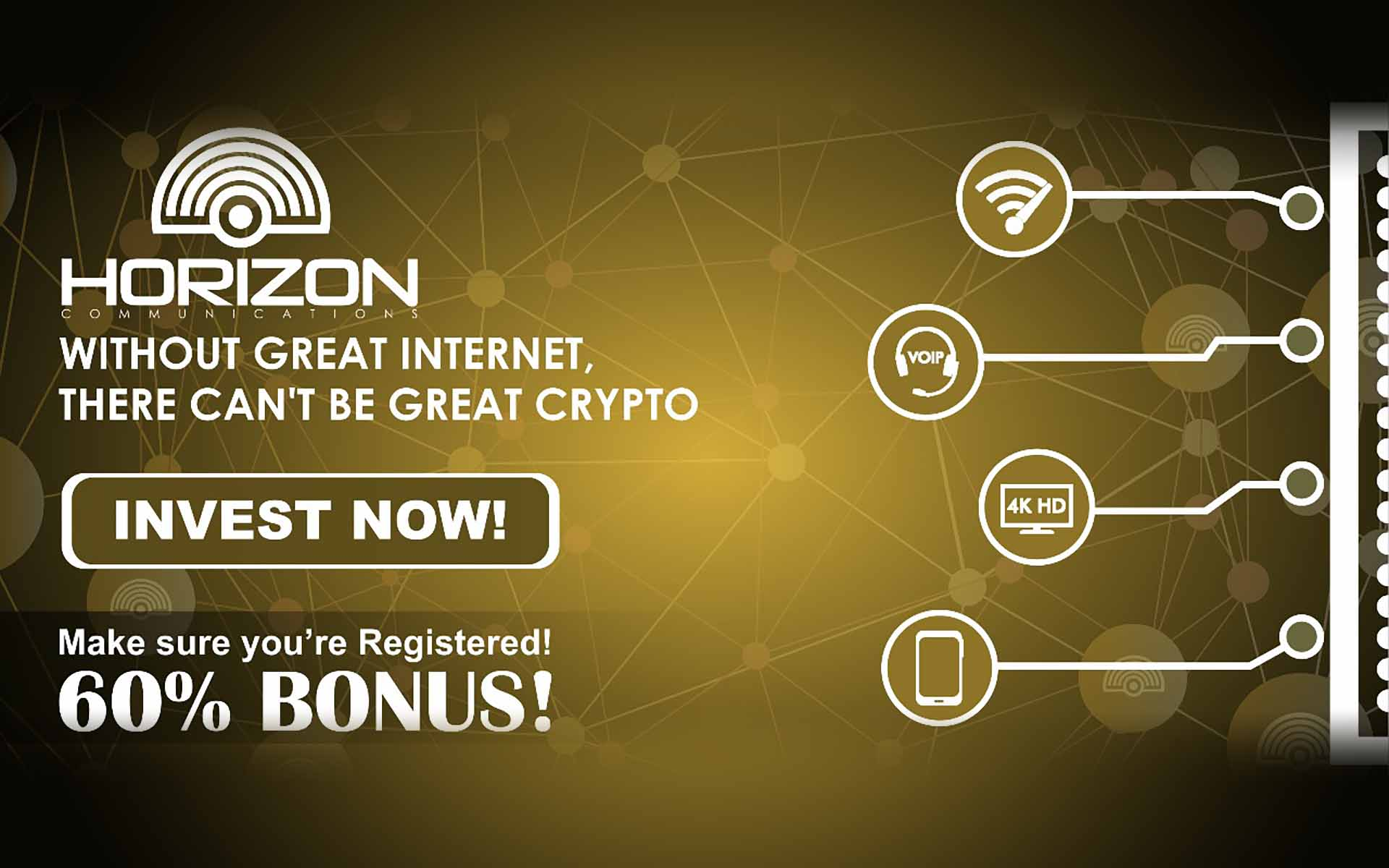 Horizon Launches Public Pre-Sale with 60% Bonus