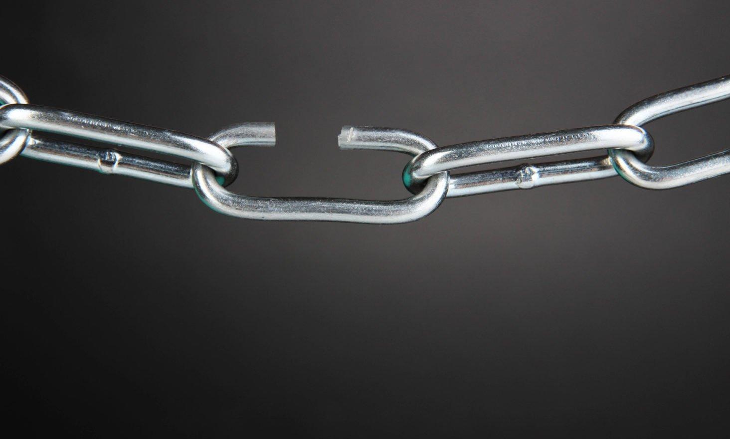 broken chain blockchain eos