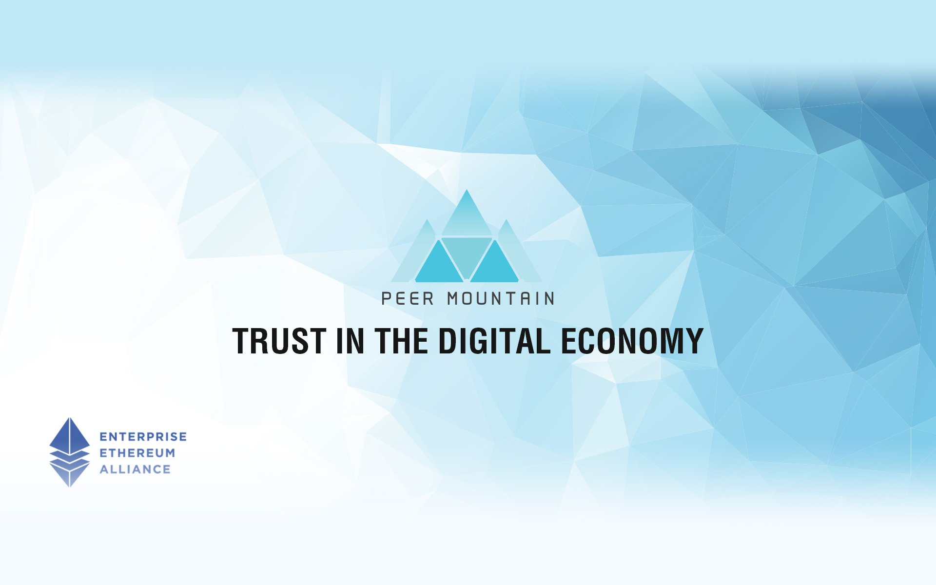 Peer Mountain Joins the Largest Open-Source Blockchain Initiative, Enterprise Ethereum Alliance