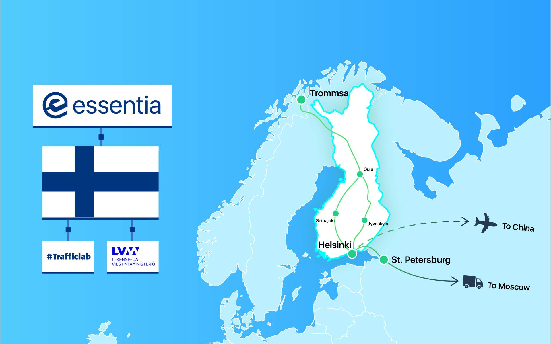 Essentia.One Partners with Finnish Government to Develop Blockchain Logistics Hub