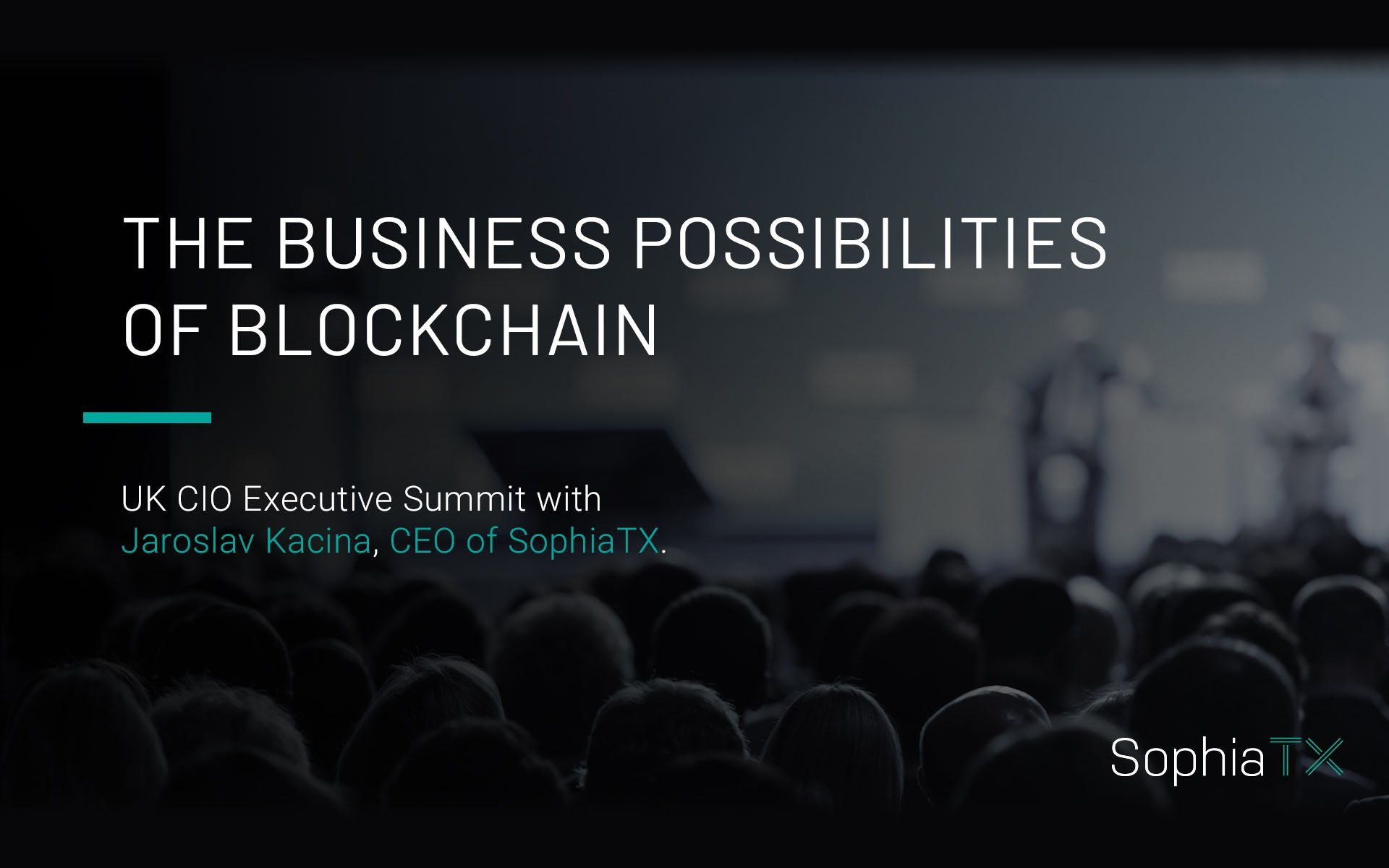 CEO of SophiaTX Takes the Business Blockchain Discussion to It Executive Forums Organized by Evanta, a Gartner Company