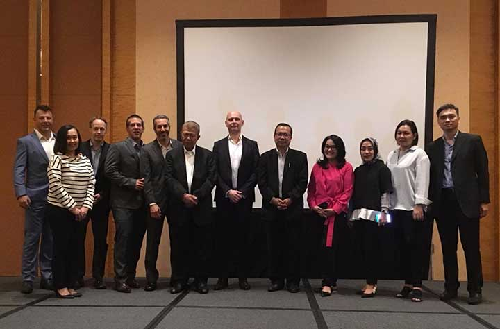 Delegation at the summit in Singapore