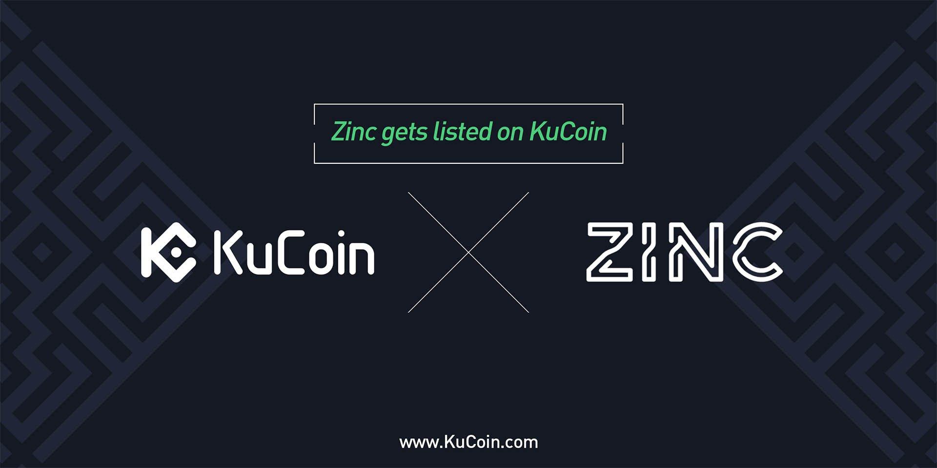 Zinc (ZINC) Gets Listed on KuCoin!