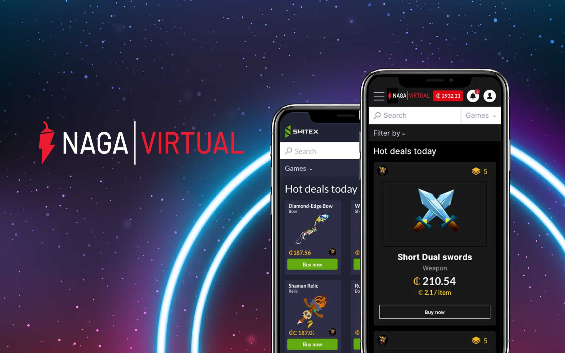 Switex Becomes NAGA VIRTUAL