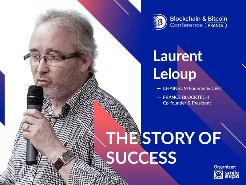 President at France Blocktech and speaker at the Blockchain & Bitcoin Conference France Laurent Leloup
