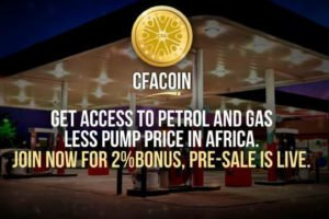 CFACoin Aims to Revolutionize Oil and Gas, Making Petrol and Gas Assesible, Affordable in Africa. Join Crowd Sale.