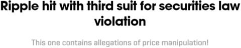 Ripple hit with 3rd lawsuit - eToro