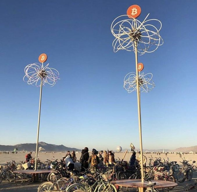 Bitcoin Spotted At This Year's Burning Man