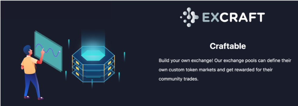 ExCraft introduces the first decentralized autonomous organization exchange managed based on a single or pooled user trade volume meritocratic Proof of Existence voting system.