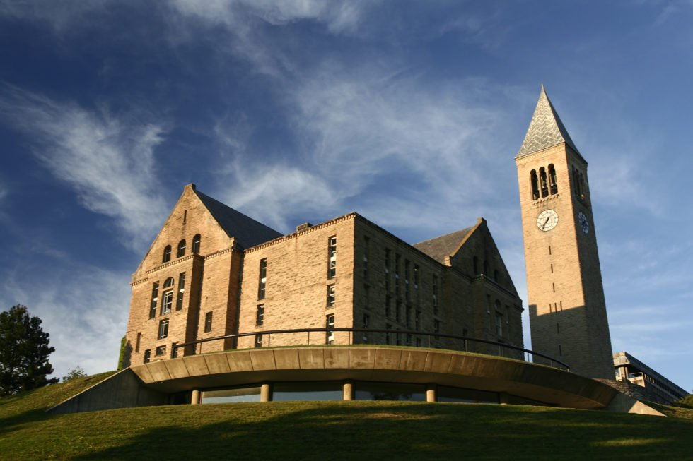 While Stanford leads the pack, Cornell University in Ithaca is a close second.