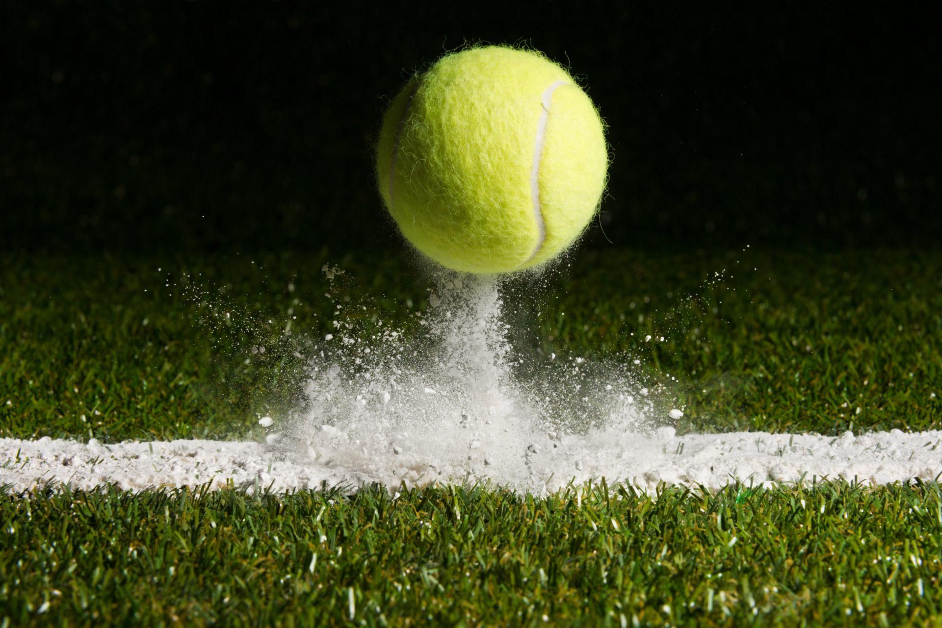 Tennis ball bouncing