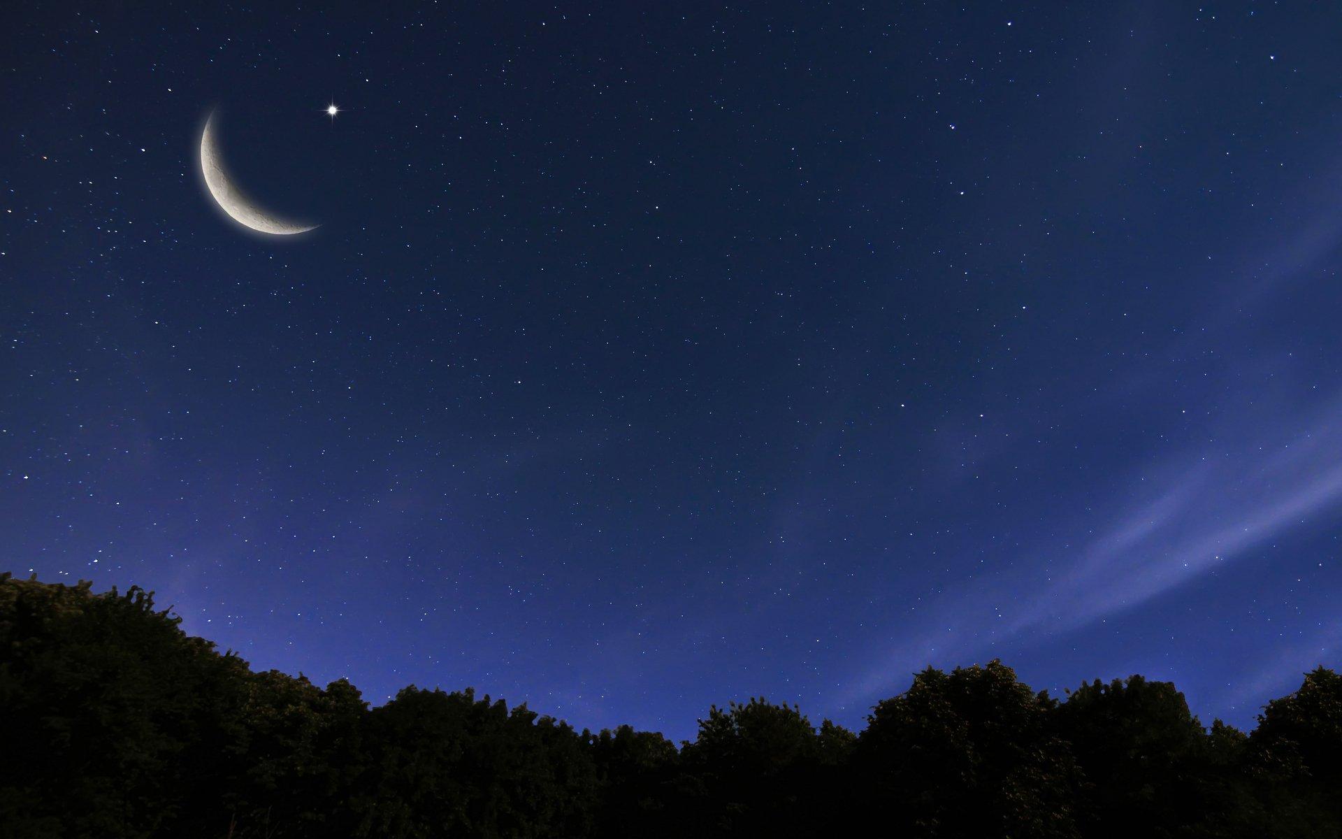 фото месяц и звезды раскатайте нарежьте узкие