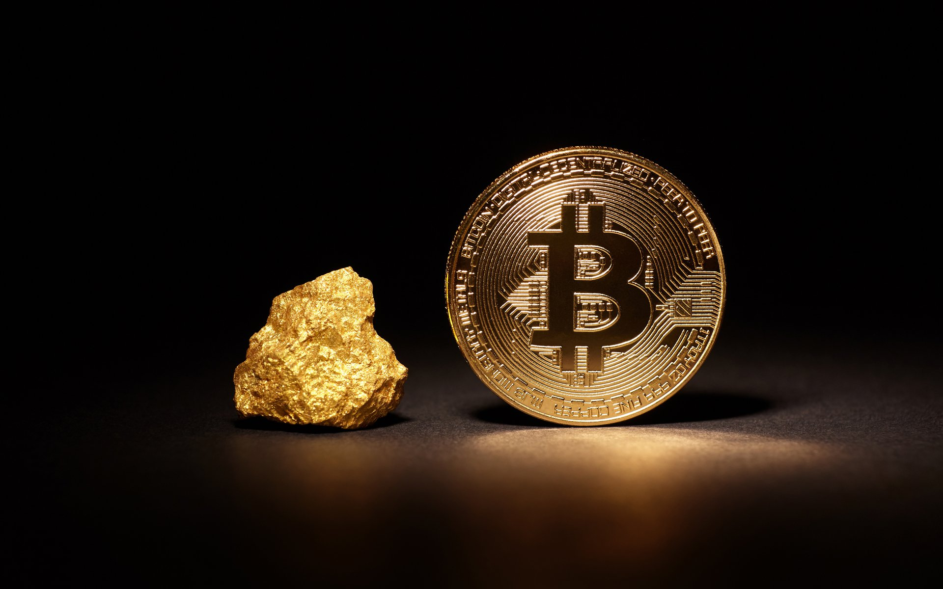 Uncanny Historic Gold Bitcoin Price Charts Almost Identical