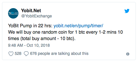 YoBit Inflates PutinCoin in Blatant Pump and Dump Promotion