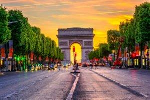 France Paris protests arch