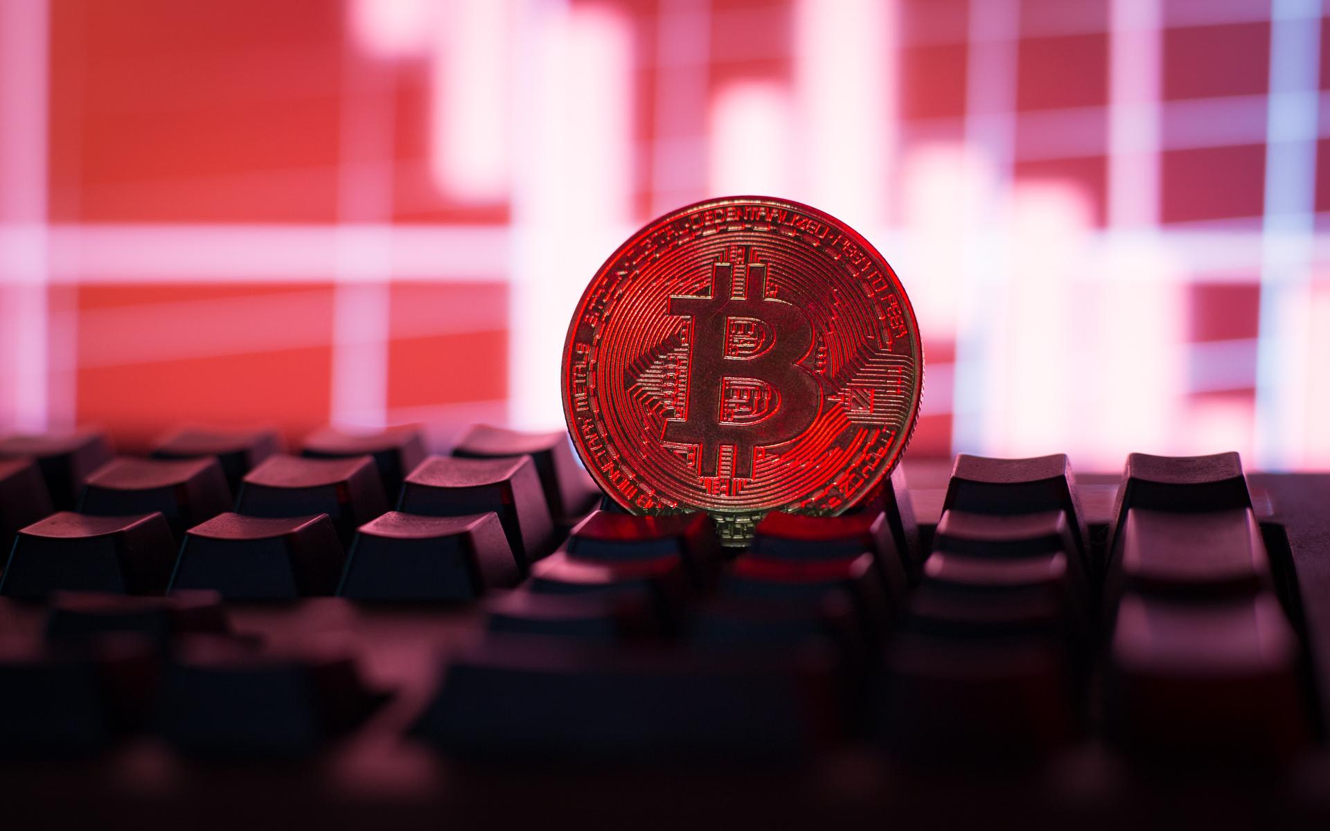 Bitcoin price BTC red