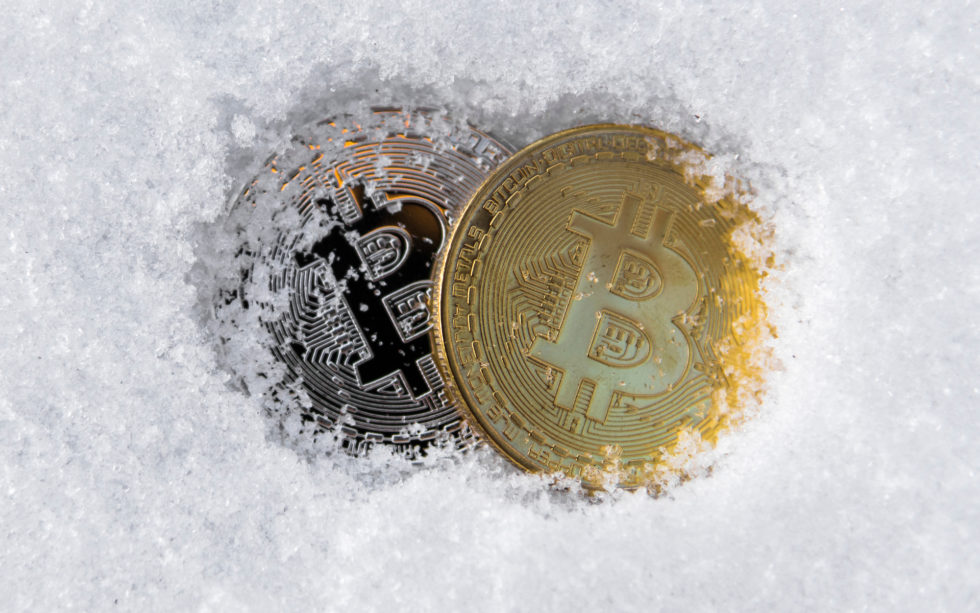 frozen bitcoin crypto winter