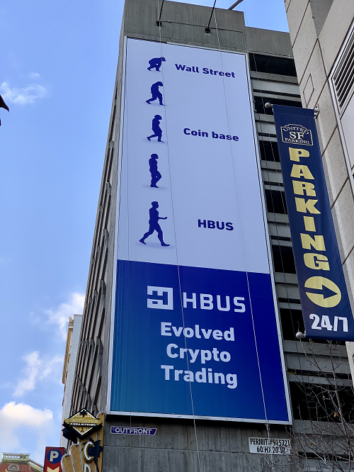 HBUS Launches First Ever Cryptocurrency Billboard Campaign in the US