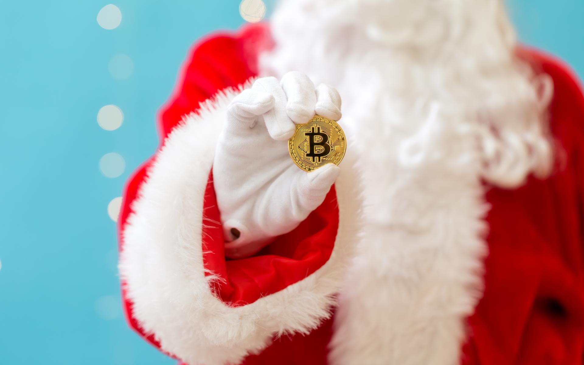 santa rally bitcoin price cryptocurrency