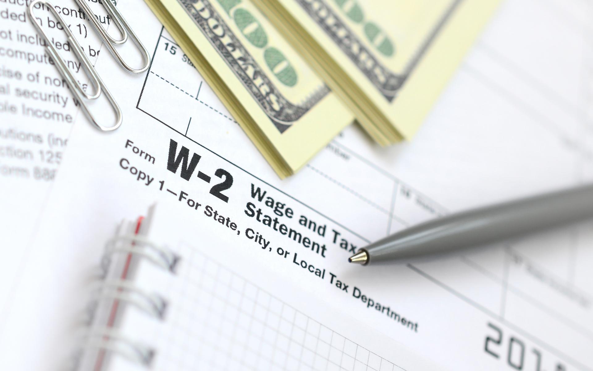 w-2 wage bitwage salary