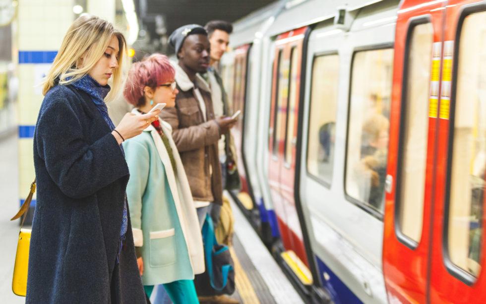 train passengers blockchain