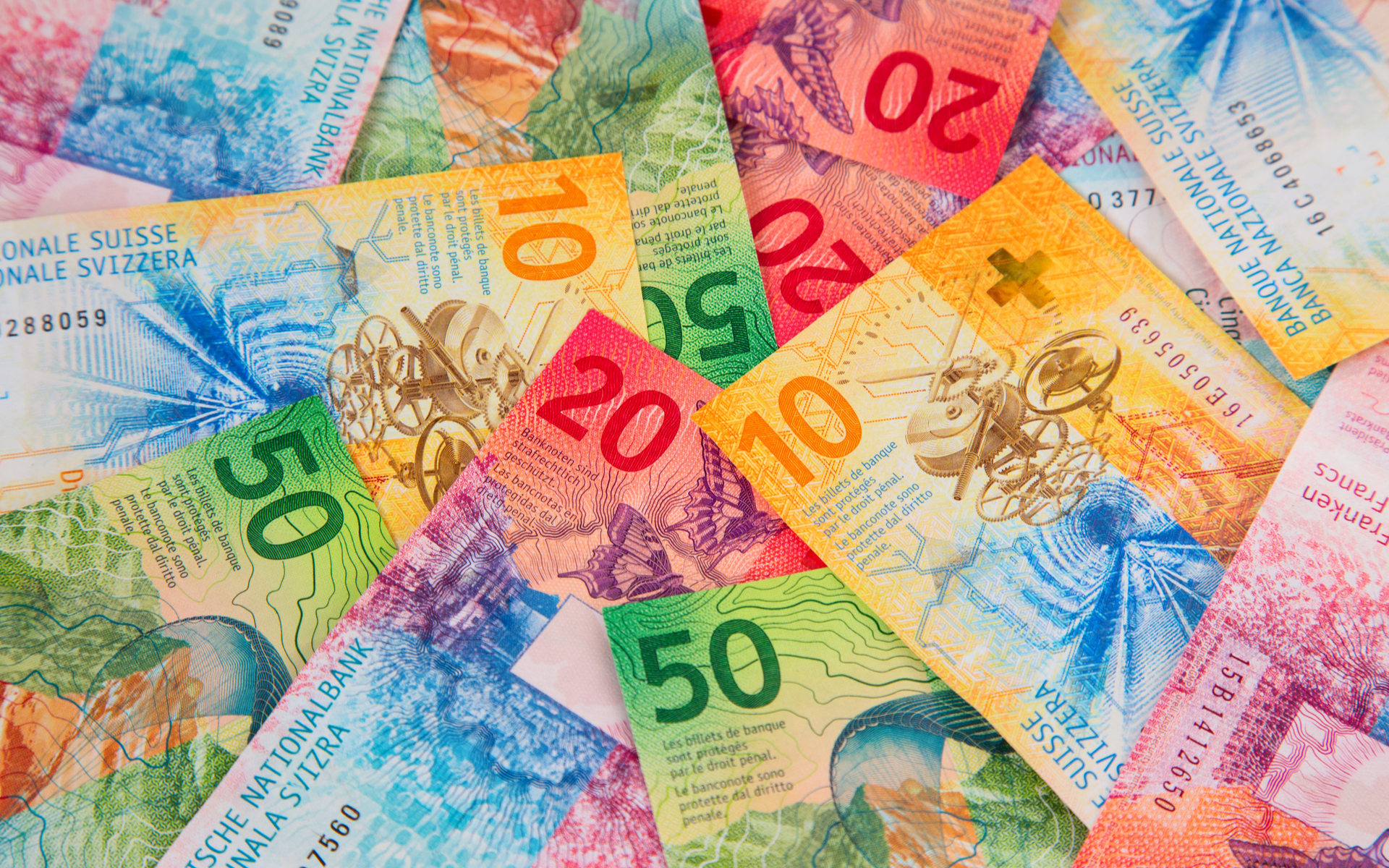 swiss banknotes