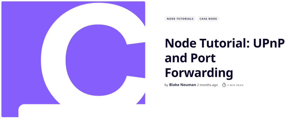 casa node port forwarding