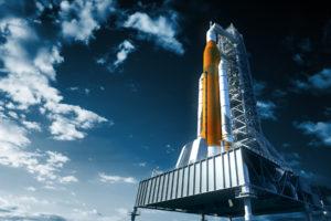 space shuttle launchpad moon bitcoin