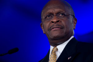 herman cain bitcoin trump