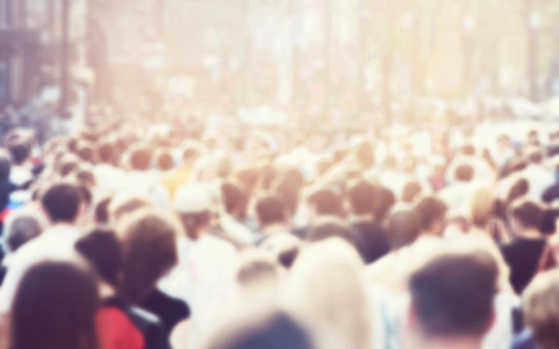 crowd people bitcoin