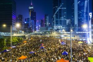 hong kong protest bitcoin trading