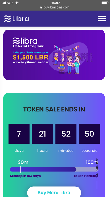 Facebook Libra token sale