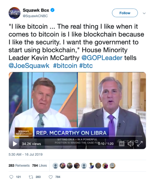 Bitcoin Has Found A New Admirer In House Rep. Kevin McCarthy