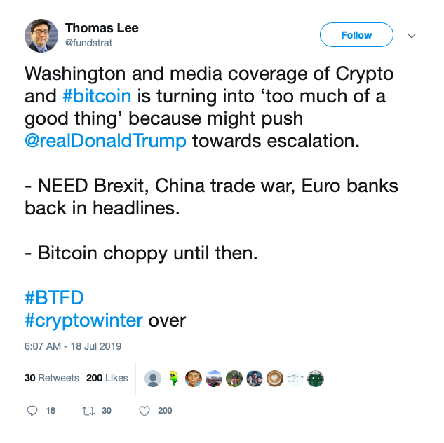 Tom Lee Is Afraid Trump will Institute a Bitcoin Ban