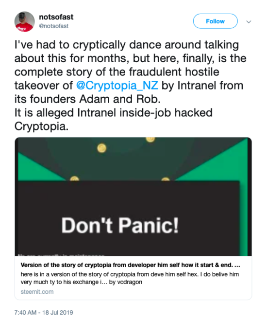 New Proof Recommends Cryptopia Hack Was 'Inside Task' 1