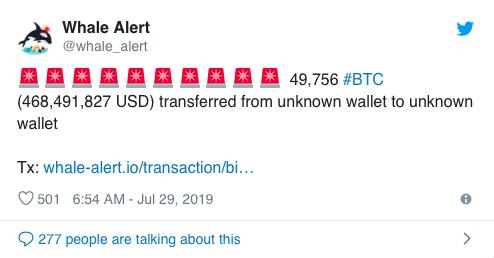 bitcoin whale alert