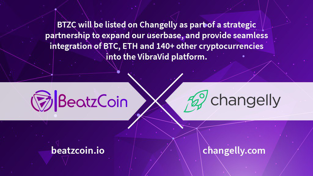 Changelly and BeatzCoin Announce Partnership